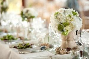 table de mariage végétale
